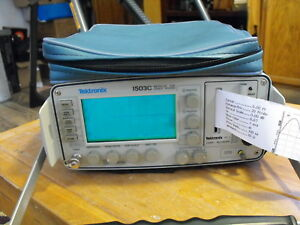 Tektronix 1503c Metallic Tdr Cable Tester With Printer And Accessories