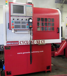 2007 Ganesh Cyclone 32cy 4 axis Cnc Swiss Type Lathe 18 station 7 live