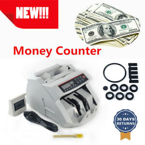 Automatic Cash Currency Money Counter Device Counterfeit Bill Detector Uv Mg Usa