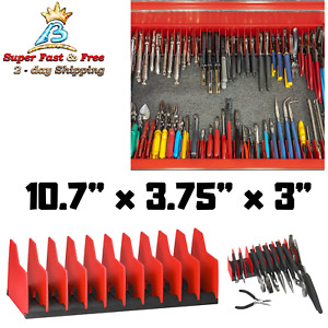 Noslip Plier Wrench Holder Pro Storage Organizer 10 Slot Tool Box Drawer Divider