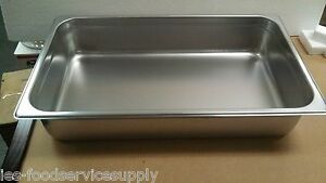 lot Of 6 Full Size 4 Deep Stainless Steamtable Pans Hot Food Table Steam Pans