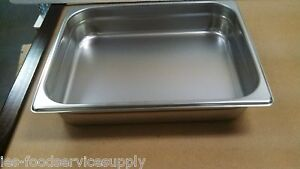 lot Of 6 Half Size 2 Deep Stainless Steamtable Pans Hot Food Table Steam Pan