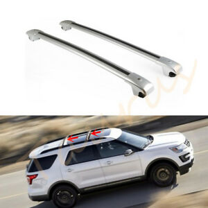 2pcs Aluminum Alloy Cross Bar Car Roof Rack Fit For Ford Explorer 2013 2016