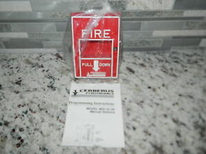 New Siemens Cerberus Msi 10b Single Action Fire Alarm Pull Station 500 893080