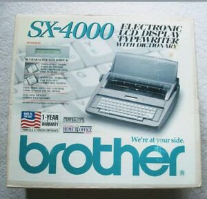 Brother Sx 4000 Electronic Lcd Display Dictionary Typewriter