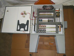 Hoffman Electrical Control Enclosure Panel box with Componate Contents
