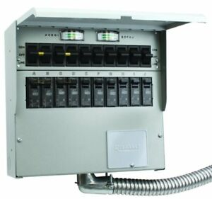 Reliance Controls Pro tran 2 30 amp 120 240v 10 circuit Transfer Switch W