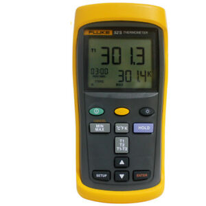 1pc Fluke 52 Handheld Thermometer Dual Contact Thermometer