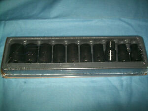 New Snap on 1 2 Drive 10 Thru 19 Mm 6 point Shallow Impact Socket Set 310immya