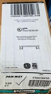 6 X Case Of 12 X Panduit T70ciw10 T70 Divider Wall 10ft Gray 720ft Total