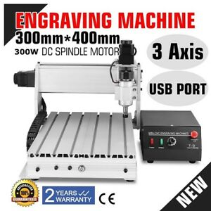 3 Axis Cnc Router Engraver 3d Cutter 3040 Engraving Machine Drilling 300w Motor