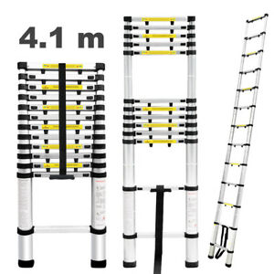 13 5ft Aluminum Telescopic Extension Ladder Telescoping Tall Multi Purpose Us