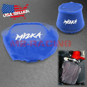 Blue Engine Cold Air Intake Pre Filter Conical Cover Water Repellent Washable