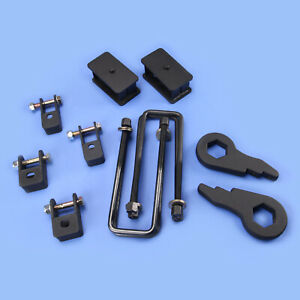Forged Lift Kit Front 1 3 Rear 3 Sierra Chevy Silverado 99 07 4wd