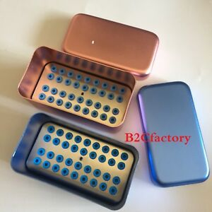 Dental 16 Holders Scaler Tips Burs Disinfection Holder Block Sterilizer Box Case