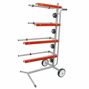 Mobile Tree Style Masking Paper Machine Station Stand Holds Multiple Rolls
