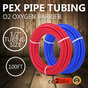 200 1 2 Oxygen Barrier Pex Tubing 100 Red And 100 Blue Water Plumbing New
