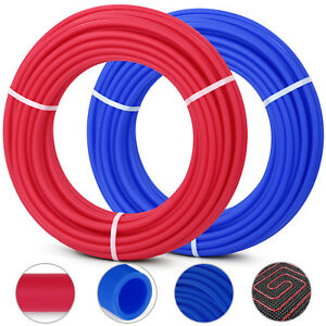 1 2 x100ft Red Blue Pex Tubing pipe Pex b Potable Water O2 Evoh 2 Rolls New