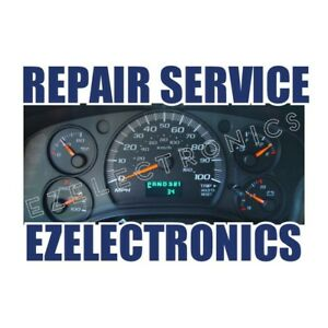 1999 To 2002 Chevy Gm Gmc S10 Blazer Tahoe Instrument Cluster Repair Service