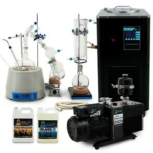 Usa Lab 2000ml 2l Turn Key Short Path Distillation Kit Used Sogevac Sv28bi