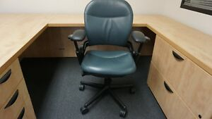 Qty400 used Leather Ergonomic Steelcase Leap Chair V1 Fully Adjustable