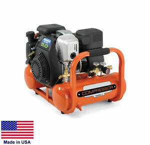 Air Compressor Industrial coml Pontoon Type 4 Gallon 155 Psi 5 Hp Honda