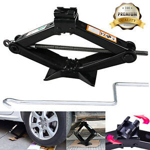 Scissor Jack 2ton Car Van Travel Emergence Mechanical Lifting Lift Tool Portable