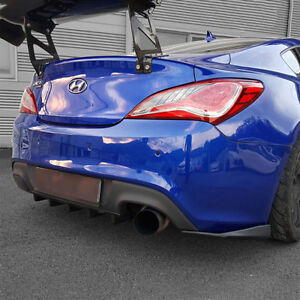 New M s Abs Black Matte Rear Bumper Diffuser For Hyundai Genesis Coupe 10 16