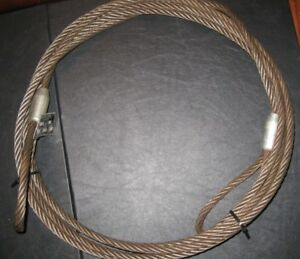 2 X Choker Sling Wire Steel Cable Flemish Eye 7 16 X 20 Irc Rigging metal Tag