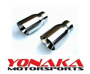 Yonaka 3 5 Yonaka Pair Stainless Steel 15 Degree Angled Cut Rolled Exhaust Tips