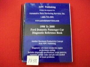 1998 2000 Ford Domestic Passenger Car Diagnostic Reference Book Manual Vgc
