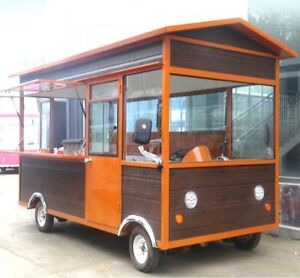 New 3 5m Stainless Steel Concession Stand Trailer Kitchen hood oven Ship By Sea