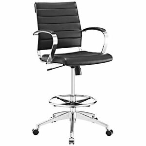Modway Jive Drafting Chair In Black Reception Desk Chair Tall Office Chair F