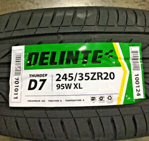2 New 245 35 20 Delinte Thunder D7 Tires