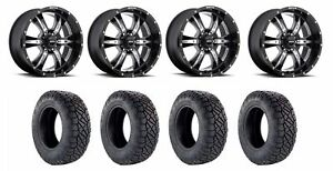 Set Of 4 Nitto 217 040 Tires Sota 564dm 20965 00 Death Metal Black Wheels