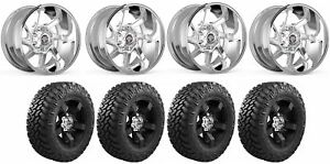 Set Of 4 Nitto 374 000 Tires Centerline 838v 2106825 20x10 Chrome Wheels