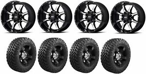 Set Of 4 Nitto 205 590 Tires Moto Metal Mo97021080324n Gloss Black Wheels