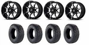 Set Of 4 Nitto 217 040 Tires Moto Metal Mo97021067324n Gloss Black Wheels