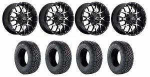 Set Of 4 Nitto 217 040 Tires Dropstars 645mb 2108719 Gloss Black Wheels