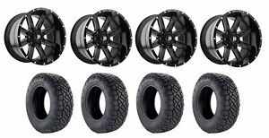 Set Of 4 Nitto 217 060 Tires Ballistic 959200267 19gbx Gloss Black Wheels