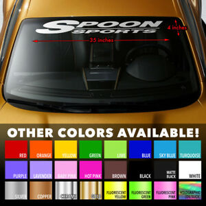 Spoon Sports Windshield Banner Vinyl Decal Sticker For Honda Type R S2000 Civic