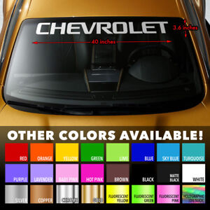 Chevrolet Windshield Banner Vinyl Decal Sticker For Chevy Camaro Silverado Cruze