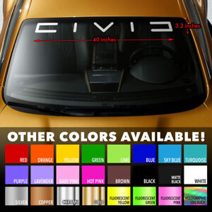 Honda Civic Backward C Windshield Banner Premium Vinyl Decal Sticker 40 X3 2
