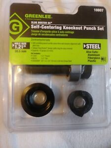 Greenlee 10807 Slug buster Self Centering Knockout Punch Unit For 1 21 inch Cond