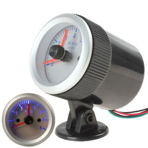 2 52mm 0 8000rpm Car Auto Led Blue Pointer Tach Tachometer Gauge W Holder Cup