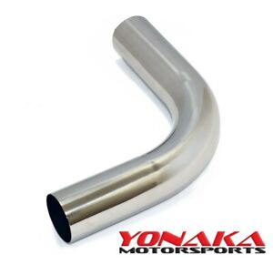 Yonaka 3 Polished 304 Stainless Steel 90 Degree Mandrel Bend Pipe Tube 6 Legs