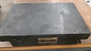 A Ottavino 12 x18 x4 Granite Surface Plate Two 2 Ledge 0 00004 And or 0 00008