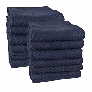 12 Pack Moving Blanket Pads Pro Secure Wrap Protect Furniture Appliances 72 x80
