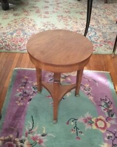 Vintage Signed Baker French Empire Mahogany End Stand Side Table