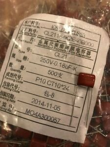 0 18uf 250v Metalized Poliester Film Capacitor New 500 bag